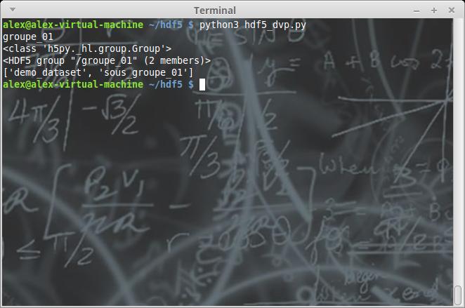 Python et h5py: gestion du format HDF5